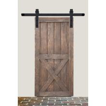 See Details - 8' Barn Door Flat Track Hardware - Rough Iron Basic Style