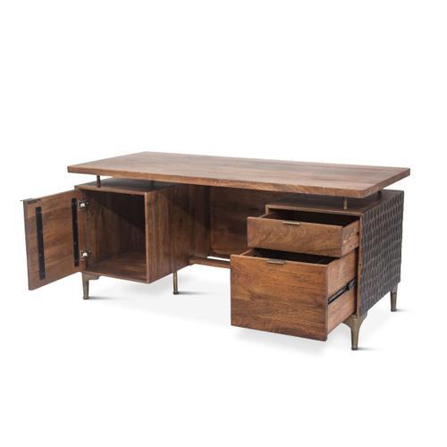 "Santa Cruz Office Desk 66"" Two-Toned"