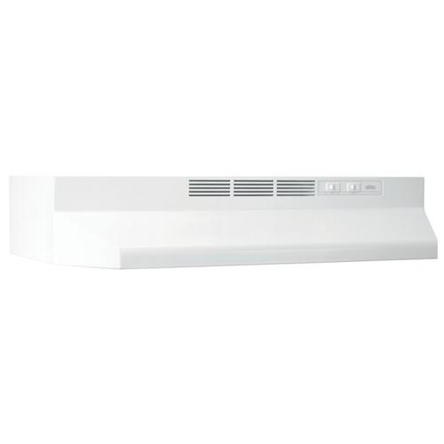 30-Inch Ductless Under Cabinet Range Hood with Light in White with EZ1 installation system
