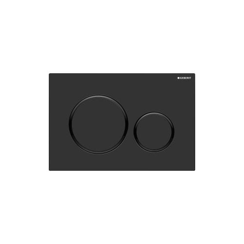 Sigma20 Dual-flush plates for Sigma series in-wall toilet systems Matte black with polished black accent NEW! Finish