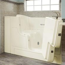 See Details - Gelcoat Premium Series 30x52 Inch Walk-in Tub with Air Spa System and Outward Opening Door, Right Drain  American Standard - Linen