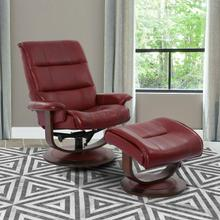 See Details - KNIGHT - ROUGE Manual Reclining Swivel Chair and Ottoman