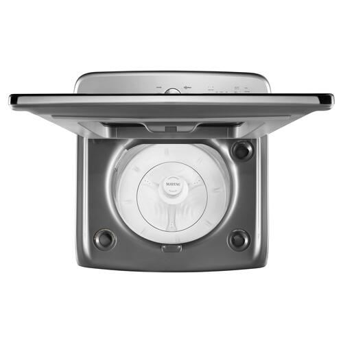 Maytag - Top Load Large Capacity Agitator Washer - 6.0 cu. ft. Metallic Slate