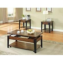 ACME Magus Coffee Table w/Lift Top - 80260 - Brown Oak & Black