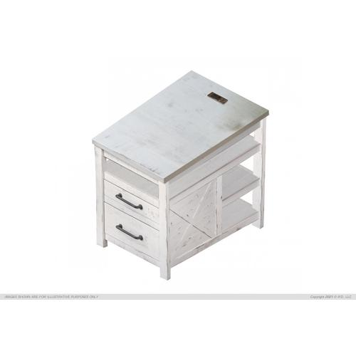See Details - 2 Drawer & Shelf File Cabinet w/USB Connector