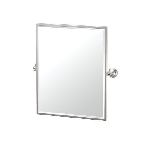 Charlotte Framed Rectangle Mirror in Satin Nickel