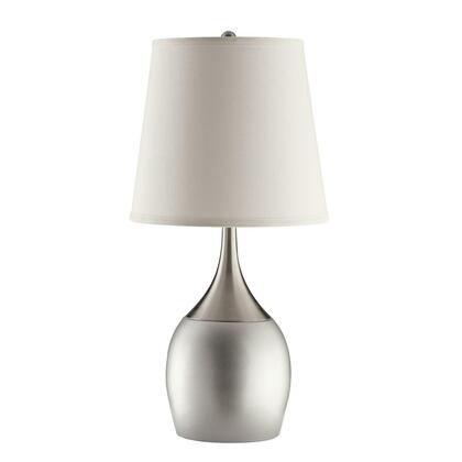 Casual Silver and Chrome Accent Lamp
