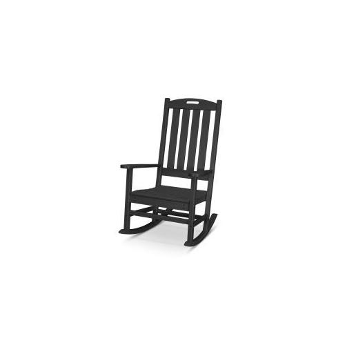 Polywood Furnishings - Nautical Porch Rocking Chair in Black