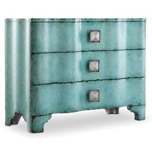 Living Room Melange Turquoise Crackle Chest