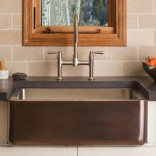 See Details - Copper/stainless Farmhouse Sink Antique Dark Copper / Copper/stainless Farmhouse Sink