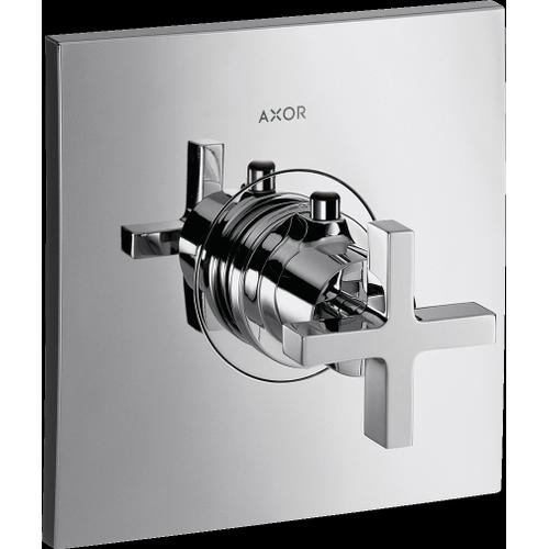 Chrome Thermostatic Trim HighFlow with Cross Handle