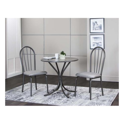 """Cramco Furniture - Timber 30"""" Vintage/dove Tweed 3pc Set"""