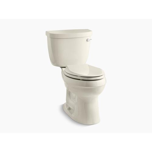 Kohler - Almond Two-piece Elongated 1.6 Gpf Toilet With Tank Cover Locks