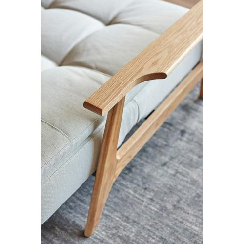 DUBLEXO CHAIR/SP FREJ WOOD ARMREST/LEGS, OAK/SP CHAIR METAL BARS FOR WOOD ARMS