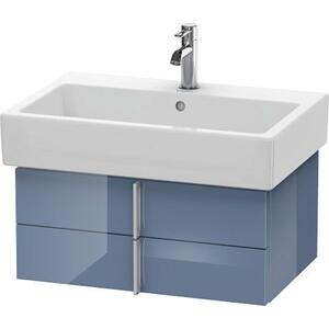Vanity Unit Wall-mounted, Stone Blue High Gloss (lacquer)