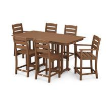 View Product - Lakeside 7-Piece Counter Set in Teak