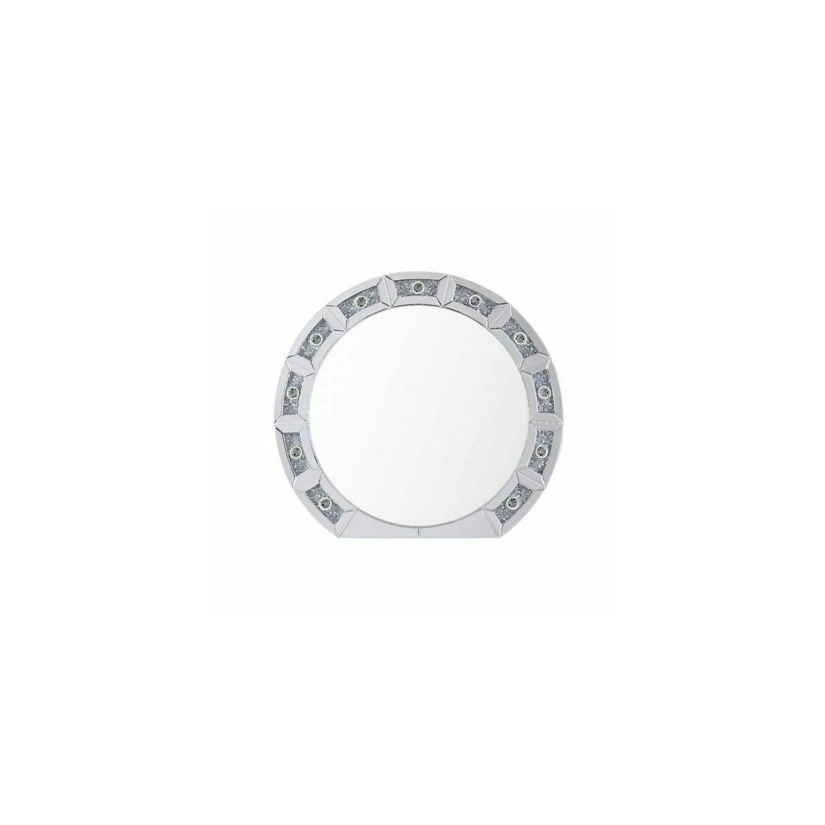 ACME Noralie Wall Decor - 97748 - Glam - LED Light, Mirror, Glass, MDF, Faux Diamonds (Acrylic) - Mirrored and Faux Diamonds