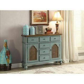 ACME Telissa Console Table - 90290 - Antique Blue & Oak