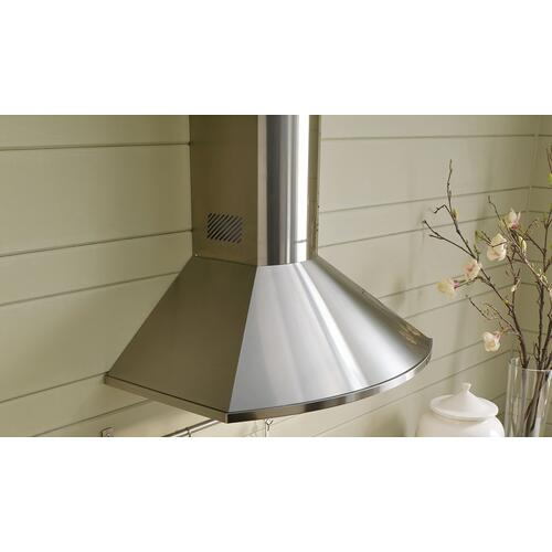 "30"" rounded pyramid wall hood with Variable Air Management"