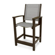 View Product - Coastal Counter Chair in Mahogany / Metallic Sling