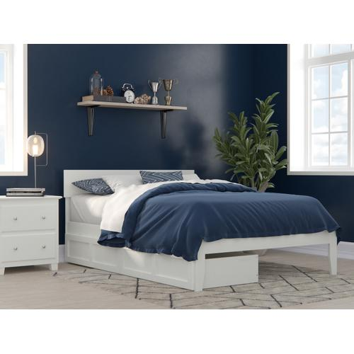 Atlantic Furniture - Boston Full Bed with 2 Drawers in White