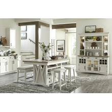 See Details - AMERICANA MODERN DINING Island Counter Height Table 72 in. x 42 in. to 90 in, (18 in Butterfly Leaf)