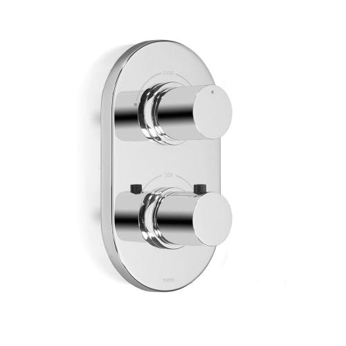 Nexus® Thermostatic Mixing Valve Trim with Dual Volume Control - Brushed Nickel