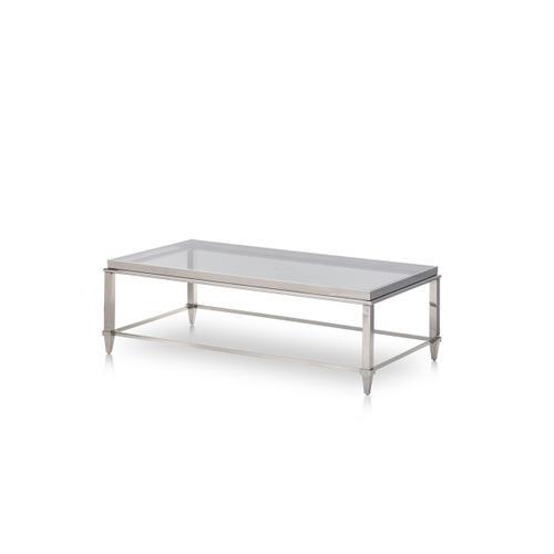 VIG Furniture - Modrest Agar Modern Glass & Stainless Steel Coffee Table