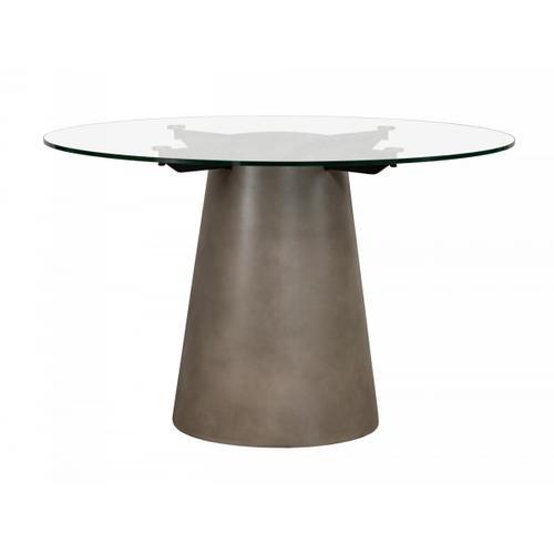 VIG Furniture - Nova Domus Essex - Contemporary Concrete, Metal and Glass Round Dining Table