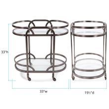 See Details - Black Nickel Stainless Steel Bar Cart