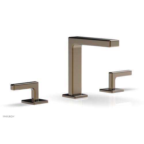 "MIX Widespread Faucet - Lever Handles 6-3/4"" Height 290-02 - Antique Brass"