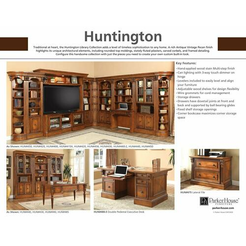 Parker House - HUNTINGTON 2 piece Peninsula Desk