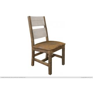 See Details - Solid Wood Chair w/Fabric Seat