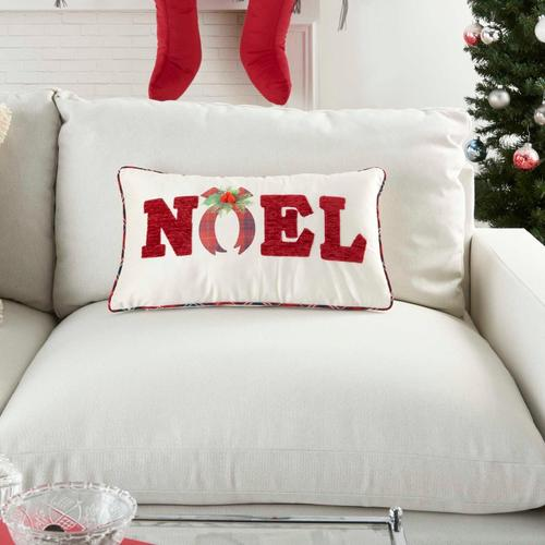 """Holiday Pillows L1900 Red 12"""" X 22"""" Throw Pillow"""