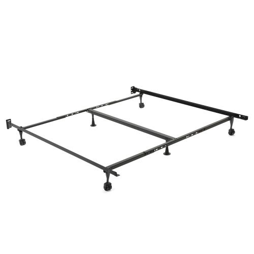Fashion Bed Group - Restmore Universal Bed Frame TK45R with Fixed Headboard Brackets and Locking Rug Rollers, Twin - King