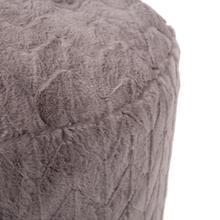 See Details - Tall Pouf Angora Stone