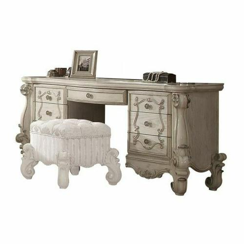 ACME Versailles Vanity Desk - 21137 - Bone White