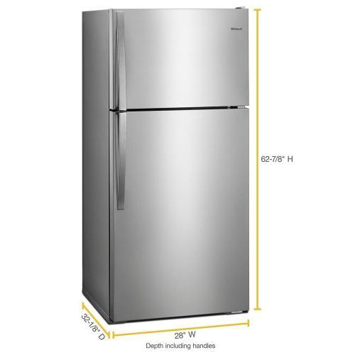 Whirlpool - 28-inch Wide Top Freezer Refrigerator - 14 cu. ft.