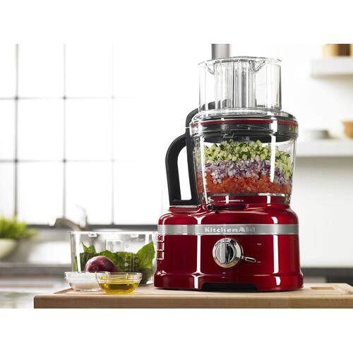 KitchenAid - Pro Line® Series 16-Cup Food Processor with Die Cast Metal Base and Commercial-Style Dicing Kit Candy Apple Red