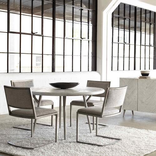 Gallery - Presley Round Dining Table in Brushed White
