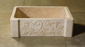Versailles Farmhouse Sink Papiro Cream Marble Product Image