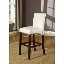 "ACME Jakki Counter Height Chair (Set-2) - 96168 - White PU - 24"" Seat Height"