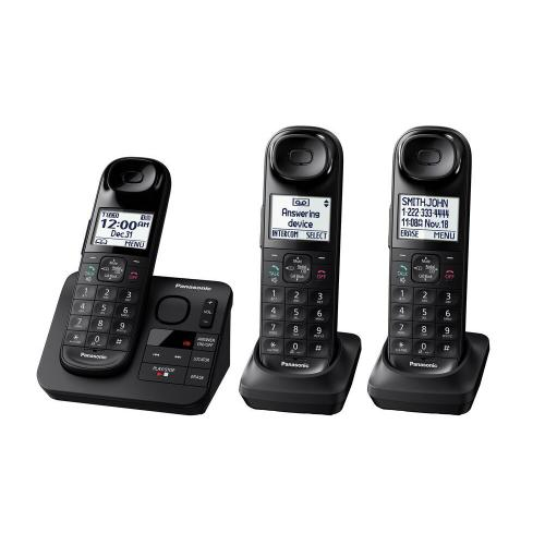 Expandable Cordless Phone with Comfort Shoulder Grip and Answering Machine- 3 Handsets - KX-TGL433B