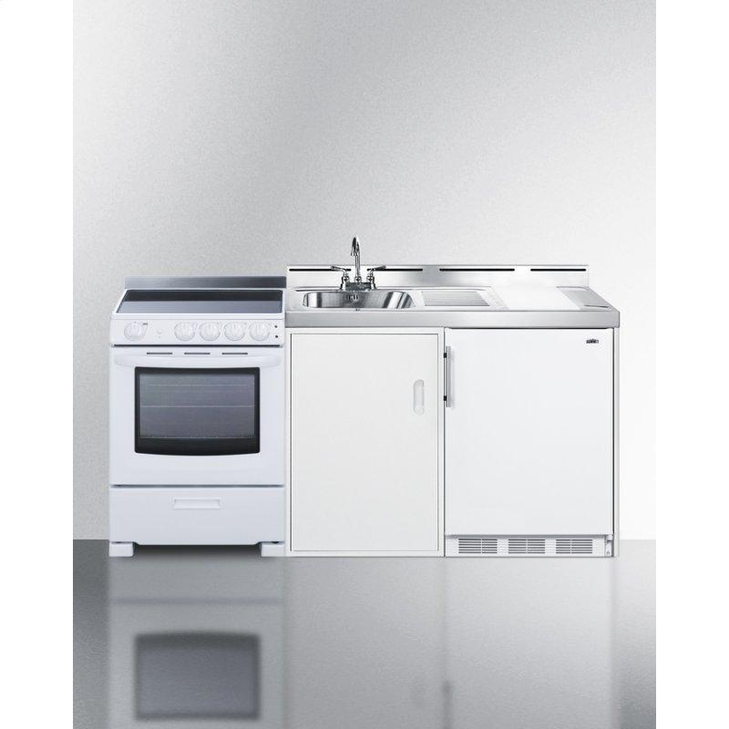 """72"""" Wide All-in-one Kitchenette With Electric Range"""
