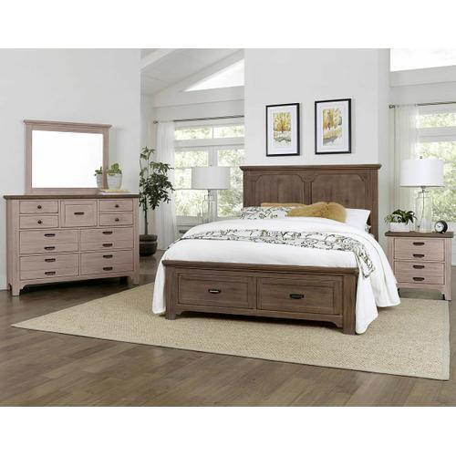 Vaughan-Bassett - King Panel Storage Bed