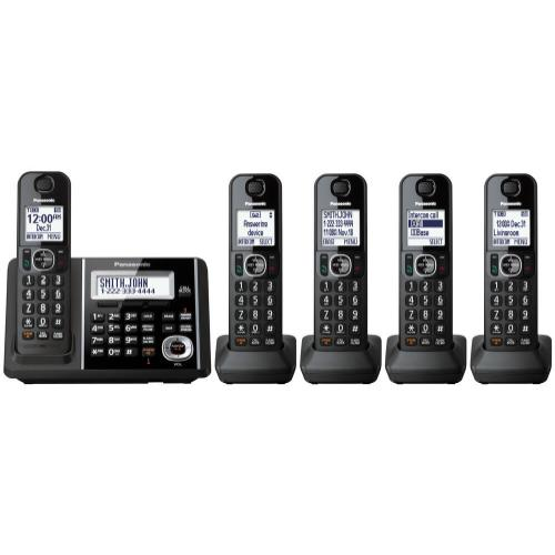 Expandable Cordless Phone with Answering Machine - 5 Handsets