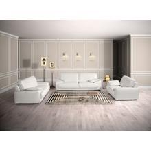 View Product - Estro Salotti Evita Modern White Italian Leather Sofa Set