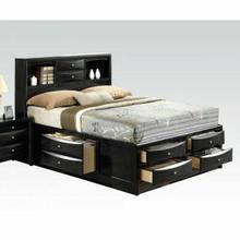 ACME Ireland Eastern King Bed w/Storage - 21606EK KIT - Black