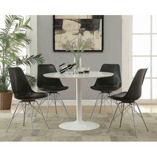 Coaster - Lowry Mid-century Modern White Round Dining Table