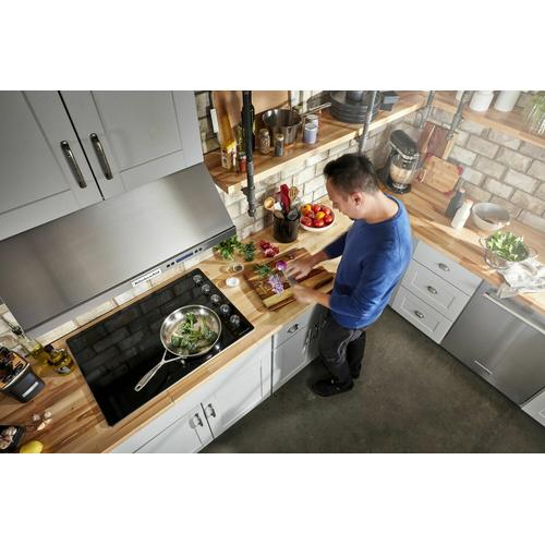 """Gallery - 30"""" Electric Cooktop with 5 Elements and Knob Controls - Stainless Steel"""